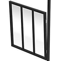 GoodHome Alara Black Clear Glass Modular Room divider panel (H)1m (W)1m