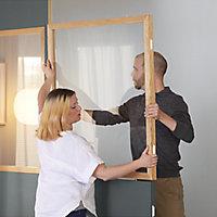 GoodHome Alara Natural Clear Glass Modular Room divider panel (H)1m (W)1m