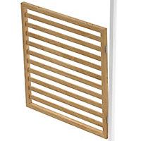 GoodHome Alara Natural Slatted Room divider panel (H)1m (W)1m