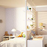 GoodHome Alara White Modular Room divider panel (H)0.25m (W)0.5m