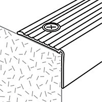 GoodHome Aluminium Step protector, (L)900mm (W)35mm