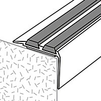 GoodHome Aluminium Step protector, (L)900mm (W)40mm