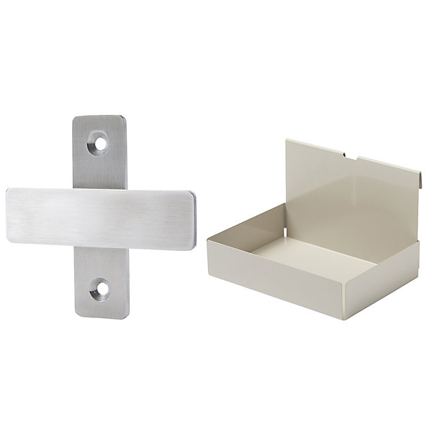 Goodhome Amantea Brushed Taupe Stainless Steel Bathroom Accessory Set Diy At B Q