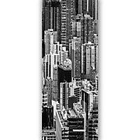 GoodHome Ammi Black & white Skyscraper Matt Mural