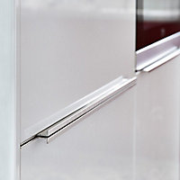 GoodHome Andali Brushed Chrome effect Anodised Aluminium Bar Handle (L)597mm, Pack of 2