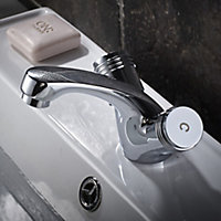 GoodHome Annagh 2 lever Chrome-plated Contemporary Basin Mono mixer Tap
