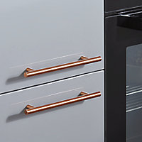 GoodHome Annatto Copper effect Steel Bar Cabinet Handle (L)220mm, Pack of 2