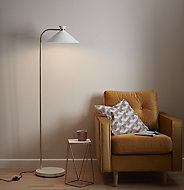 GoodHome Apennin Matt Cream Floor light