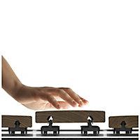 GoodHome Areto Aluminium Decking joist fixing rail (W)63mm (T)29.5mm