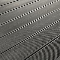 GoodHome Areto Dark grey Composite Deck board (L)2.05m (W)120mm (T)21mm