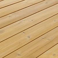 GoodHome Areto Natural Pine Deck board (L)2m (W)118mm (T)21mm