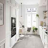 GoodHome Artemisia Matt white classic shaker moulded curve Glazed Cabinet door (W)500mm (T)20mm