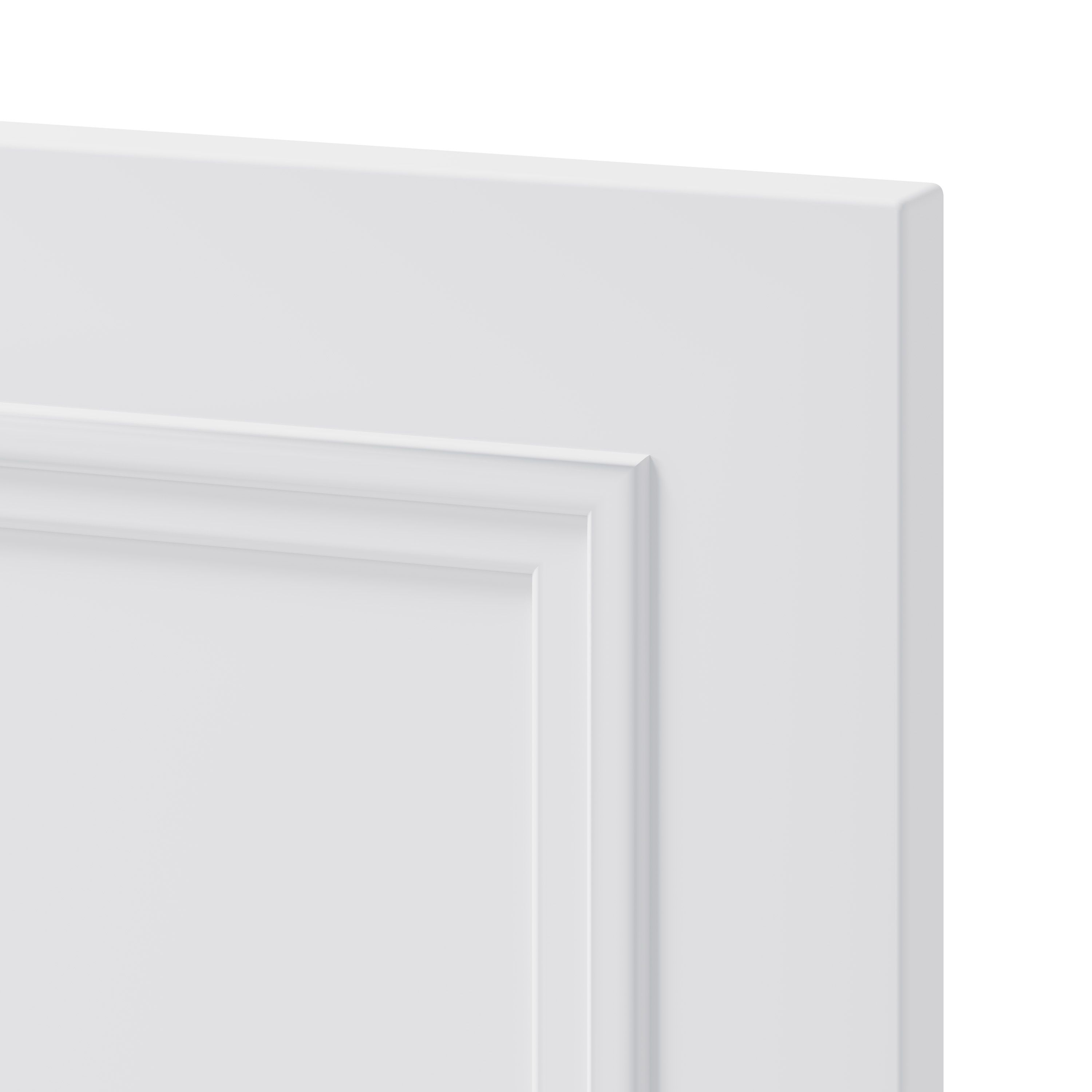 GoodHome Artemisia Matt white classic shaker moulded curve Moulded curve Highline Cabinet door (W)500mm (T)20mm
