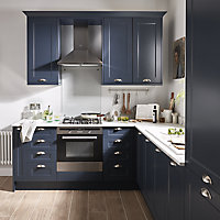 GoodHome Artemisia Midnight blue classic shaker Highline Cabinet door (W)500mm (T)18mm