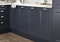 GoodHome Artemisia Midnight blue classic shaker Highline Cabinet door (W)500mm