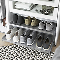 GoodHome Atomia Full extension Pull-out shoe rack (W)714mm