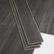GoodHome Bachata Dark grey Wood effect Luxury vinyl click flooring, 2.56m² Pack
