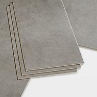 GoodHome Bachata Stone grey Tile effect Luxury vinyl click flooring, 2.6m² Pack