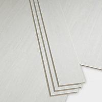 GoodHome Bachata White Wood effect Luxury vinyl click flooring, 2.56m² Pack