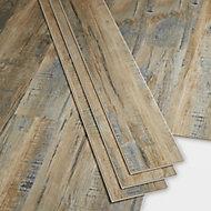 GoodHome BAILA Natural Wood effect Luxury vinyl flooring tile, 2.2m² 2