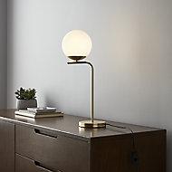 GoodHome Baldaz Matt Brass effect Table light