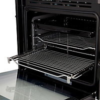 GoodHome Bamia GHMF71 Black Built-in Electric Single Multifunction Oven