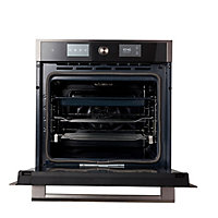 GoodHome Bamia GHPY71 Black Built-in Electric Single Pyrolytic Oven
