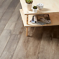 GoodHome Bannerton Dark Mahogany effect Laminate Flooring, 2.06m² Pack of 10