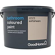GoodHome Bathroom Santa fe Soft sheen Emulsion paint, 2.5L