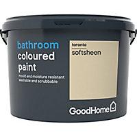 GoodHome Bathroom Toronto Soft sheen Emulsion paint, 2.5L