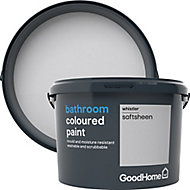 GoodHome Bathroom Whistler Soft sheen Emulsion paint, 2.5L