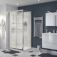 GoodHome Beloya Gloss Transparent Clear Fixed Panel (H)1950mm (W)700mm
