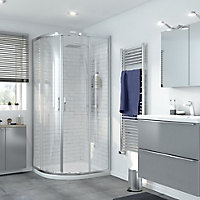 GoodHome Beloya Quadrant Clear Shower Enclosure & tray with Corner entry double sliding door (W)900mm (D)900mm