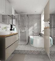 GoodHome Beloya Rectangular Clear Shower Shower enclosure with Corner entry double sliding door (W)1200mm (D)800mm