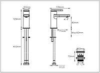 GoodHome Berrow 1 lever Chrome-plated Contemporary Basin Mono mixer Tap