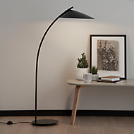 GoodHome Bindarri Matt Black Floor light