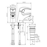 GoodHome Blyth 1 lever Chrome-plated Mini Contemporary Basin Mono mixer Tap