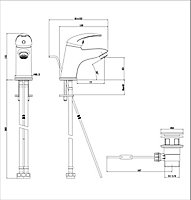 GoodHome Blyth 1 lever Contemporary Basin Mono mixer Tap