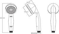 GoodHome Blyth Single-spray pattern Shower head