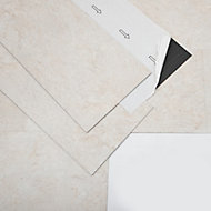 GoodHome Bossa Nova Beige Stone effect Luxury vinyl flooring tile, 1.3m² Pack of 7