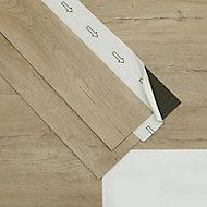 GoodHome Bossa Nova Natural Wood effect Luxury vinyl flooring tile, 0.97m² Pack of 7
