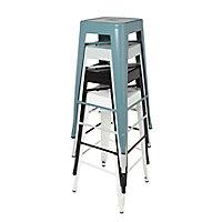GoodHome Branza Black Bar stool