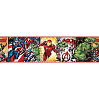 GoodHome Braya Multicolour Avengers Smooth Border