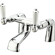 GoodHome Brean Chrome-plated Bath Mono mixer Tap