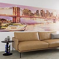 GoodHome Calderi Multicolour Brooklyn bridge Matt Mural
