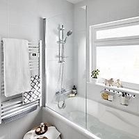 GoodHome Calera clear 1 Panel Bath screen, (W)850mm