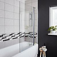 GoodHome Calera Straight 2 Panel Bath screen, (W)1040mm