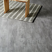GoodHome Caloundra Grey Oak effect Laminate Flooring, 2.467m² Pack