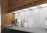 GoodHome Caraway Matt White Mains-powered LED Cool white & warm white Cabinet light IP20 (W)264mm