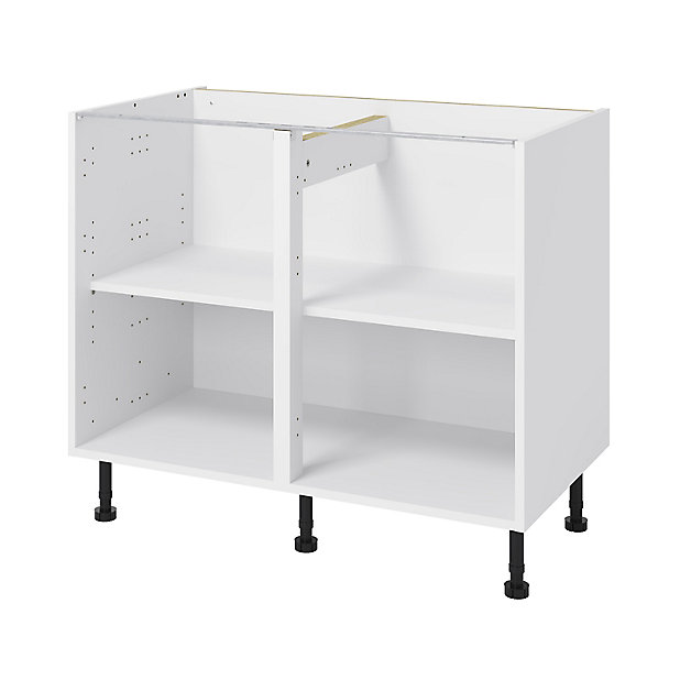 Goodhome Caraway White Base Cabinet W, B Q Kitchen Cabinets Clearance